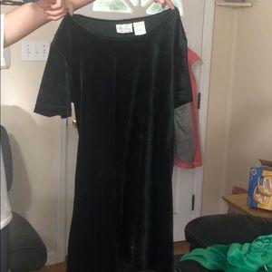 A velvet green dress